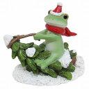 コポー ツリーソリで遊ぶカエル ツリー ソリ そり クリスマス オーナメント Copeau 動物 x 039 mas オーナメント マスコット 雑貨 置物 小物 オブジェ カエル 蛙 フロッグ FROG かわいい 72031