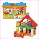 【ブロックラボ】アンパンマンとおおきなパン工場とすてきなおうちブロックバケツ 〔ブロック あんぱんまん おもちゃ 玩具 知能玩具 オモチャ アンパンマン〕