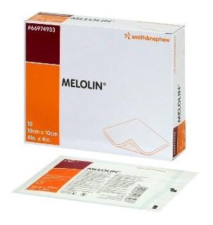 非固着性ドレッシング メロリン(滅菌済) 5x5cm 100枚/箱 S&N スミス&ネフュー