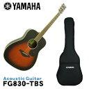 【送料無料】YAMAHA アコースティックギター FG830 TBS ヤマハ フォークギター 入門 初心者【北海道・沖縄県は別途 送料1,000円】