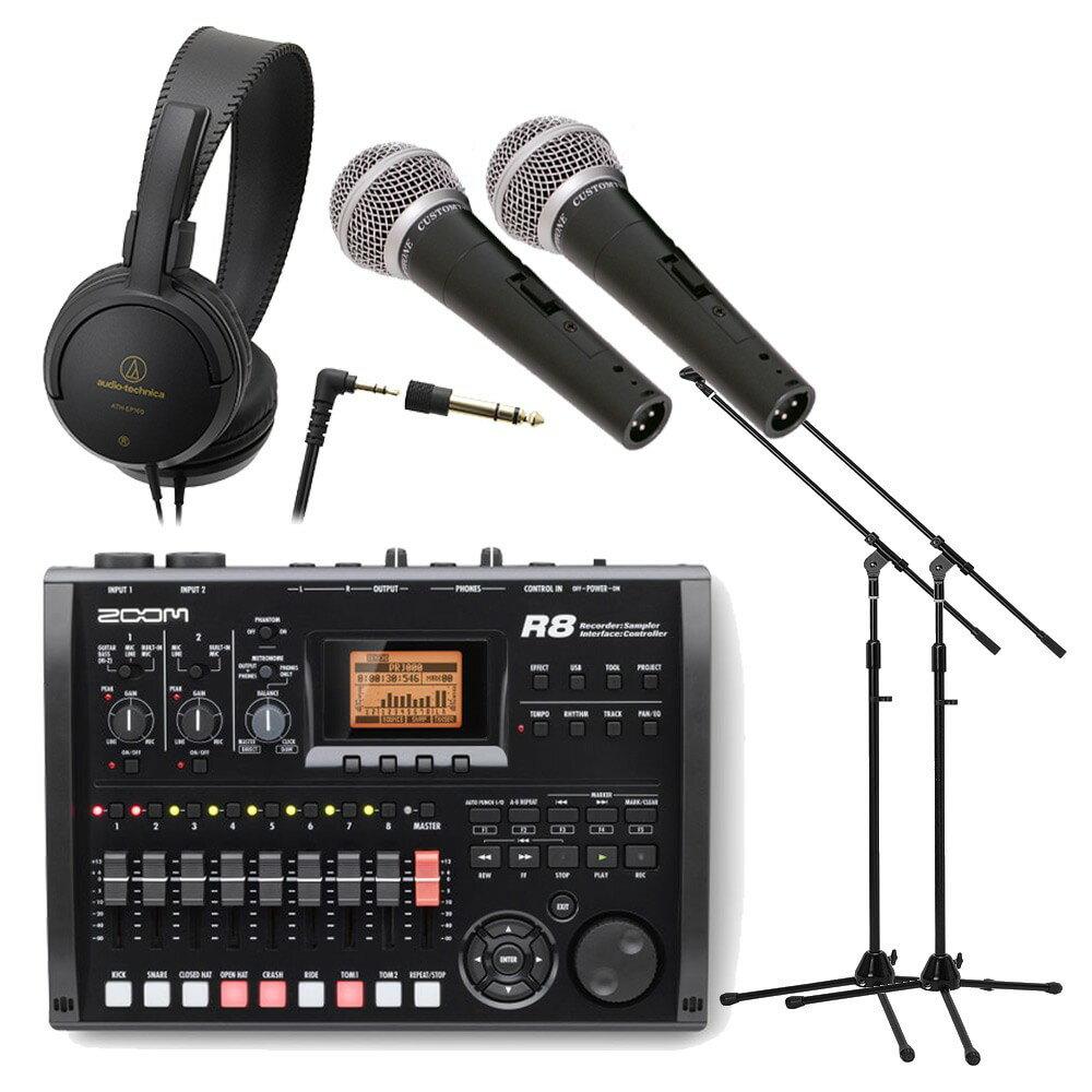 【送料無料】録音セット ZOOM マルチトラックレコーダー R8 (ヘッドフォン/マイク×…...:merry-net:10014657
