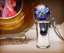 K&D 万華鏡 カレイドスコープ 天然石 シルバー925 ネックレス ペンダント アメジスト ベネチアングラス ユニセックス 中央の宝石は5mm×..