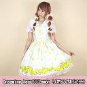★Dreaming heart♡Lemon リボンジャンパースカート(ミニ)(12062018)★メタモルフォーゼ ロリータ ロリィタ ドレス ワンピース ジャンパースカート
