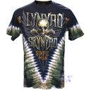 レナード・スキナード米国公式メンズTシャツ(シンプルマン) リキッドブルー製