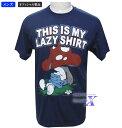スマーフ米国公式メンズTシャツ(レイジー)