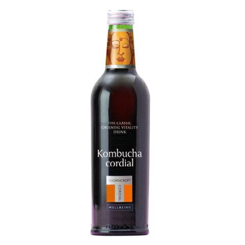 HERB CORDIAL ハーブコーディアルkombucha コムブッカ 375mlコンブチャ 紅茶きのこ ハーブ飲料 ハーブドリンク 美容 健康 フレッシュハーブ 濃縮 ビタミン ミネラル お茶 ハーブティー エステサロン ソーンクロフト タルゴ イギリス