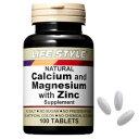 LIFE STYLE ライフスタイル カルシウム&マグネシウム&亜鉛 100粒 サプリメント/栄養補助食品/健康補助/ミネラル/天然素材/タブレット