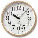 正確な時を刻む電波時計!シンプルで見やすい文字盤♪【送料無料】Lemnos (レムノス)Riki Clock RC 電波時計 WR07-11