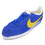 NIKE �ʥ��� CLASSIC CORTEZ NYLON ���饷�å�����ƥåĥʥ���� blue/yellow/white �֥롼/�����?/�ۥ磻�� 807472-471 16SP