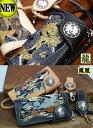 ★送料・代引き手数料無料★花山ウォレットロープ付長財布W-9AK(龍/鳳凰)デグナー製