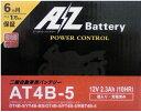 AZ バイク用バッテリー AT4B-5 液入り充電済み