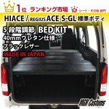 海狮200系 床配套元件黑日本制运费¥0日元-!!现在是推荐!!【H24年4月以后的车辆,成为后部座位带标准装备。请选后部座位带【有】。[ハイエースベッドキット 200系 標準S-GL用 ブラックレザー 40mmウレタン仕様 車中