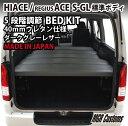 ハイエース ベッドキット 200系 標準ボディ S-GL専用 ダークグレーレザータイプ 40mm