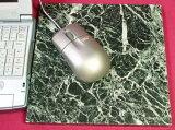 ◇大理石マウスパッドカミナリ模様のグリーン系大理石ティノスグリーン 正方形