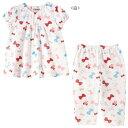 リボンいっぱい♪うさこ半袖パジャマ(80cm-130cm)