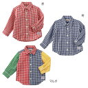先染二重織☆ギンガムチェックシャツ(80cm-150cm)