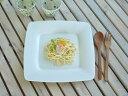 白い食器 ボーンチャイナ製のリム付きソフトスクエアー26.8cmプレート ホワイトレベル2【美濃焼 食器 訳あり アウトレット プレート/カフェ風/cafe風】
