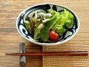 和食器 藍草紋六ベエ型5.5浅鉢【美濃焼/食器/訳あり/アウトレット込み/通販/器/中鉢/浅鉢/煮物鉢】