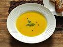 白い食器 ジノリ風アンジェスープ皿23.8cm ホワイトレベル2【美濃焼/通販/器/スープ皿】