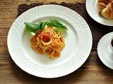白い食器 ジノリ風アンジェディナープレート27.4cm ホワイトレベル2【美濃焼/通販/器/パスタ/大皿】