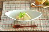 白い食器 NewイタリアンリーフディッシュS(ロゴ入り) ホワイトレベル2【美濃焼/訳あり/アウトレット込み/通販/器/小鉢】