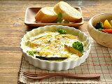 白い食器 とっても便利なパイグラタン&ドリア18.3cm ホワイトレベル1【美濃焼/食器/訳あり/アウトレット込み/グラタン/耐熱/パイ/ドリア】