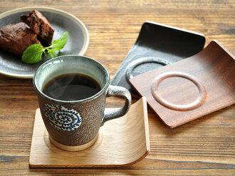 每 2 人 ! [半] 木製品是方形杯墊 [廚房 / 商店 / 翻譯 / 木 / 茶杯 / 杯墊公車站/咖啡店 / 咖啡廳]