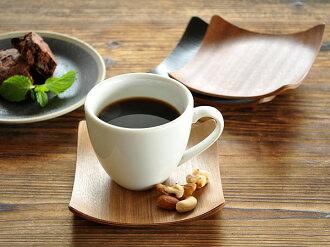 每 2 人 ! [半] 木方形杯墊 [廚房 / 商店 / 翻譯 / 木 / 茶杯 / 杯墊公車站/咖啡店 / 咖啡廳]