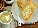 白い食器 かわいいバターナイフ ホワイトレベル2【瀬戸焼/食器/アウトレット込み/スプーン/レンゲ/バターナイフ】05P08Feb15