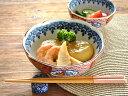 和食器 染め錦赤絵桔梗5.5煮物鉢【美濃焼/食器/訳あり/アウトレット込み/通販/器/中鉢/煮物鉢】