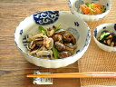 和食器 藍丸紋菊形6.8鉢【美濃焼/食器/訳あり/アウトレット込み/通販/器/大鉢】