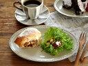 和食器 黒陶粉引オーバルトレー23.7cm【美濃焼/食器/訳あり/通販/器/アウトレット込み/プレート/楕円/皿】