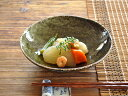 食器 煮物鉢 サラダボウル おしゃれ 和食器 モダン 美濃焼 中鉢 取り鉢 平鉢 アウトレット カフェ風 深緑窯変5.5浅鉢