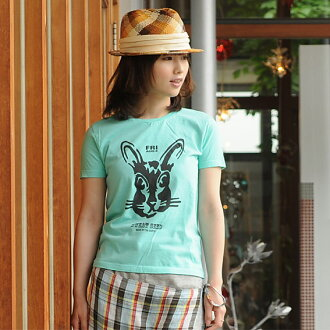 T shirt short sleeve design printed RABBIT 10P13oct13_b