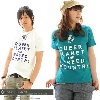 T shirt QUEER PLANET short sleeve short sleeve T shirt Print print T shirt Internet limited 35% off all 15 color ★ 10P13oct13_b.