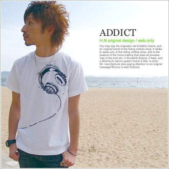 T shirt short sleeve print ADDICT OK Internet limited T shirt mens Womens XS S M L XL size Kurashiki Kojima 10P13oct13_b