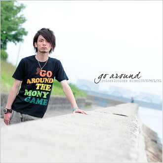★ ♪ ' GO AROUND mi-215. ne-sorted limited message T shirt 10P13oct13_b
