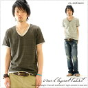 66% of T-shirt OFF V neck lei yard T-shirt men plain fabric Galvanize ガルバナイズ /LS [RCP] 10P06may13