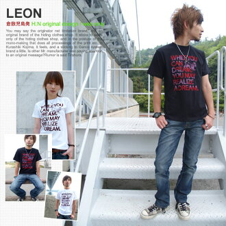 ★ ♪ LEON mi-215. ne-sorted limited message T shirt 10P13oct13_b