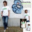 Tシャツ 半袖 No Radioactivity ネコポスOK♪【倉敷児島発/SS】mi-215.ネット限定メッセージTシャツ 150 S M L XL