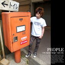 Tシャツ 半袖 PEOPLE ネコポスOK♪【倉敷児島発/SS】mi-215.ネット限定メッセージT
