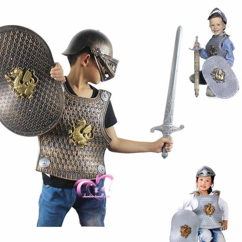 ハロウィンキッズ仮装子供用グラディエーター甲冑の騎士フルセットバージョンキャラコス・アニコ…...:miami:10001470