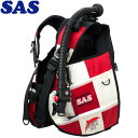 【SAS 】10445 ランドマークXII AACS-1 ホワイトシリーズ ホワイト/レッド【送料無料】【10P03Dec16】