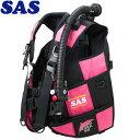 【SAS 】10444 ランドマークXII AACS-1 ブラックシリーズ ブラック/ピンク【送料無料】【10P03Dec16】
