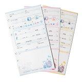 三丽鸥 Hello Kitty 对数(记录)refill(12张(件)3色)【yo-ko1113】[サンリオ ハローキティ ログレフィル(12枚3色)【yo-ko1113】]