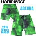 Liquid Force リキッドフォース 2013年モデル メンズボードショーツ AGENDA (グリーン) 【10P07Jan17】
