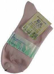 しめつけずストレスを感じにくいシルク混のショートクルーソックス(靴下)   ピンク  【ネコポス対応可】