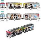 京阪電車700形 けいおん!5th Anniversaryラッピング電車 2両セット【バンダイ・964977】「鉄道模型 Nゲージ BANDAI」