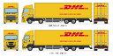 ※新製品 5月発売※ザ・トラックコレクション DHL大型トラックセット【トミーテック・287872】「鉄道模型 Nゲージ TOMYTEC」