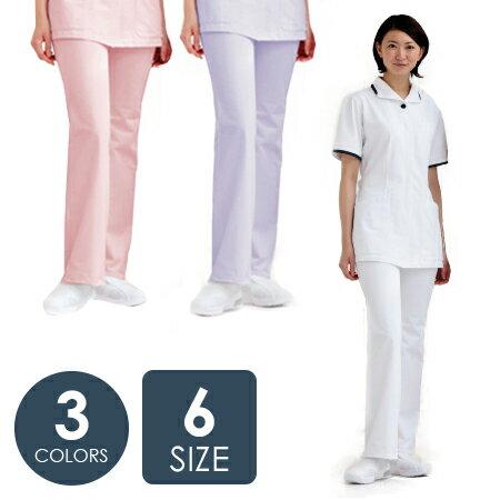 ブーツカット パンツ ナースユニフォーム [フォーク] FOLK レディース ナースウェア 2916シリーズ[介護士 医療 メディカル 白衣 看護婦 看護師 医師 ドクター 静電気 作業衣 薬局衣] 仕事着